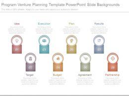 Program Venture Planning Template Powerpoint Slide Backgrounds