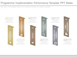 Programme Implementation Performance Template Ppt Slides