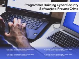 Programmer Building Cyber Security Software To Prevent Crime