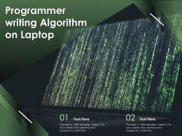 Programmer Writing Algorithm On Laptop