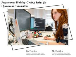 Programmer Writing Coding Script For Operations Automation