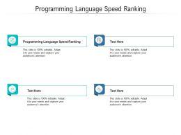 Programming Language Speed Ranking Ppt Powerpoint Presentation Layouts Layout Cpb