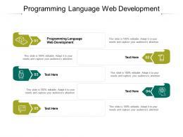 Programming Language Web Development Ppt Powerpoint Presentation Summary Icons Cpb