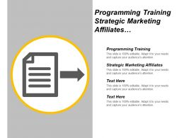 Programming Training Strategic Marketing Affiliates Guerilla Marketing Techniques