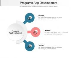 Programs App Development Ppt Powerpoint Presentation Layouts Graphics Cpb