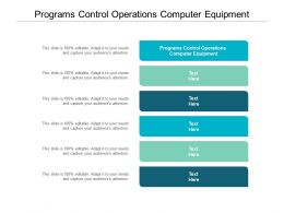 Programs Control Operations Computer Equipment Ppt Powerpoint Presentation Professional Show Cpb