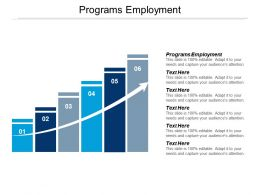 Programs Employment Ppt Powerpoint Presentation Icon Guidelines Cpb