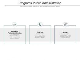 Programs Public Administration Ppt Portfolio Example Topics Cpb