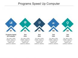 Programs Speed Up Computer Ppt Powerpoint Presentation Professional Influencers Cpb