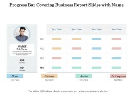 Progress Bar Covering Business Report Slides With Name