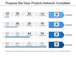 Progress Bar Days Projects Delivered Completed