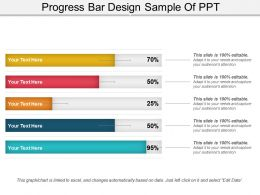 Progress Bar Design Sample Of Ppt
