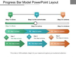 Progress Bar Model Powerpoint Layout