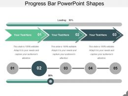Progress Bar PowerPoint Shapes