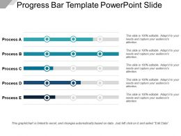 Progress Bar Template Powerpoint Slide
