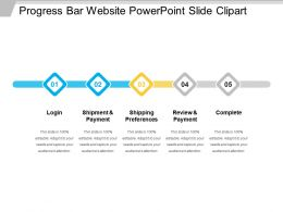 Progress Bar Website Powerpoint Slide Clipart