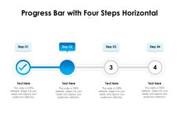 Progress Bar With Four Steps Horizontal
