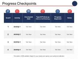 Progress Checkpoints Ppt Infographics Infographic Template