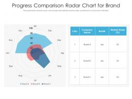 Progress Comparison Radar Chart For Brand