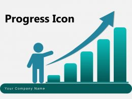 Progress Icon Circle Arrow Bar Graph Dollar Sign Graph Gear