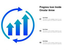 Progress Icon Inside Circular Arrow