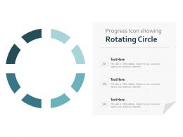 Progress Icon Showing Rotating Circle