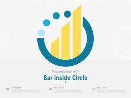 Progress Icon With Bar Inside Circle