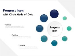 Progress Icon With Circle Made Of Dots