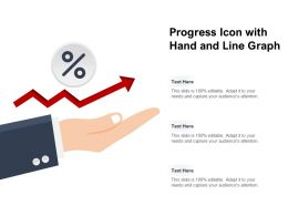 Progress Icon With Hand And Line Graph