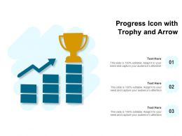 Progress Icon With Trophy And Arrow