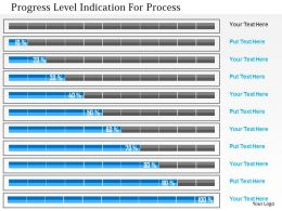 Progress Level Indication For Process Flat Powerpoint Design