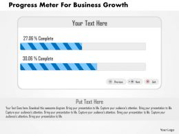 Progress Meter For Business Growth Flat Powerpoint Design