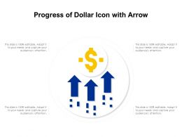 Progress Of Dollar Icon With Arrow