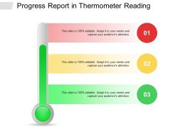 Progress Report In Thermometer Reading
