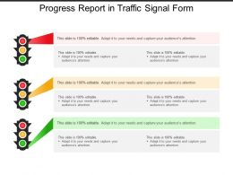 Progress Report In Traffic Signal Form
