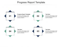 Progress Report Template Ppt Powerpoint Presentation Infographic Template Mockup Cpb