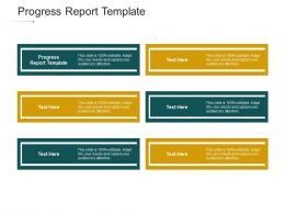 Progress Report Template Ppt Powerpoint Presentation Slides Cpb
