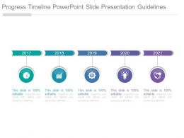 Progress Timeline Powerpoint Slide Presentation Guidelines