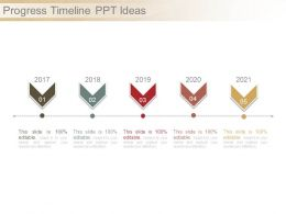 Progress Timeline Ppt Ideas