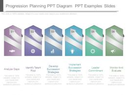 Progression Planning Ppt Diagram Ppt Examples Slides