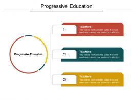 Progressive Education Ppt Powerpoint Presentation Slides Tips Cpb