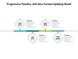 Progressive Timeline With New Version Updating Month