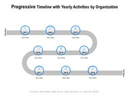 Progressive Timeline With Yearly Activities By Organization