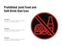 Prohibited Junk Food And Soft Drink Diet Icon