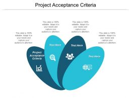 Project Acceptance Criteria Ppt Powerpoint Presentation Infographic Template Graphics Pictures Cpb