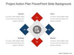 Project Action Plan Powerpoint Slide Background