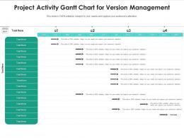 Project Activity Gantt Chart For Version Management