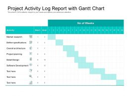 Project Activity Log Report With Gantt Chart