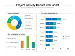 Project Activity Report With Chart