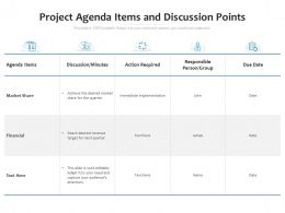 Project Agenda Items And Discussion Points